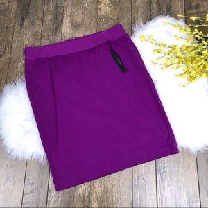 Lane Bryant Purple Ponte Pencil Skirt Size 14